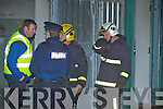 ESB, Gardai and fire personnel pictured at the ESB sub station on Glebe Lane in Killarney after a small explosion at the plant on Thursday evening.....   Copyright Kerry's Eye 2008