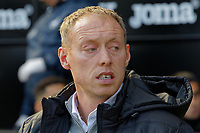 Swansea City manager Steve Cooper stands in the technical area during the Sky Bet Championship match between Swansea City and Cardiff City at the Liberty Stadium, Swansea, Wales, UK. Sunday 27 October 2019