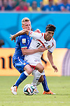 Ignazio Abate (ITA), Christian Bolanos (CRC), JUNE 20, 2014 - Football / Soccer : FIFA World Cup Brazil 2014 Group D match between Italy 0-1 Costa Rica at Arena Pernambuco in Recife, Brazil. (Photo by Maurizio Borsari/AFLO) [0855]