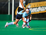 25 October 2009: Columbia University Lion backfielder Leti Freaney, a Sophomore from Pine Plains, NY, in action against the University of Vermont Catamounts at Moulton Winder Field in Burlington, Vermont. The Lions shut out the Catamounts 1-0. Mandatory Credit: Ed Wolfstein Photo