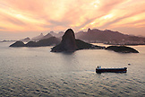 BRAZIL, Rio de Janiero, Sugarloaf Mountain, a peak located in Rio de Janeiro at the mouth of Guanabara Bay