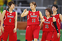 (L-R)  Maki Takada, Moeko Nagaoka  (JPN), AUGUST 6, 2016 - Basketball : <br /> Women's Preliminary Round <br /> between  Japan 77-73 Belorussiya  <br /> at Youth Arena <br /> during the Rio 2016 Olympic Games in Rio de Janeiro, Brazil. <br /> (Photo by Yusuke Nakanishi/AFLO SPORT)