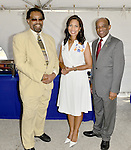 MIAMI GARDENS, FL - MAY 12: Trustee Marc T. Henderson, Dr. Roslyn Clark Artis - President of Florida Memorial University and Trustee Ricardo M. Forbes attends the Opening of  Florida Memorial University's  Multi-Purpose Arena and Wellness Education Center and the Launch of their Health Matters Movement at Florida Memorial University on Thursday May 12, 2016 in Miami Gardens, Florida.  ( Photo by Johnny Louis / jlnphotography.com )