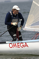 20th SPA Regatta - Medemblik.26-30 May 2004..Copyright free image for editorial use. Please credit Peter Bentley..Dean Barker - NZL