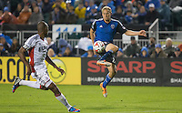 Santa Clara, California - March 29, 2014: The San Jose Earthquakes face off against the New England Revolution at Buck Shaw Stadium on Saturday night.