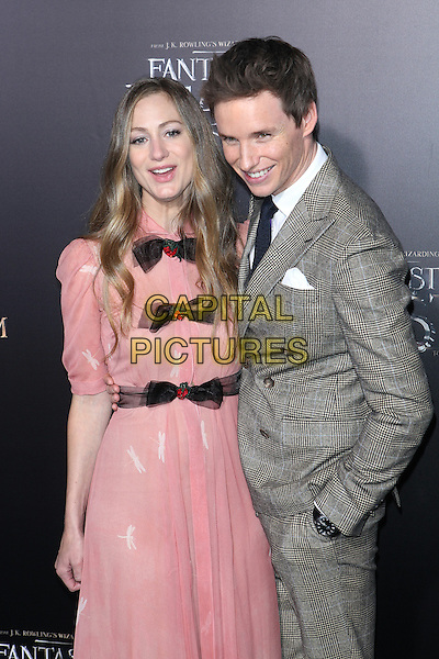 NEW YORK, NY - NOVEMBER 10: Hannah Bagshawe and Eddie Redmayne at the World Premiere of Fantastic Beasts and Where to Find Them at Alice Tully Hall on November 10, 2016 in New York City.   <br /> CAP/MPI/DIE<br /> &copy;DIE/MPI/Capital Pictures
