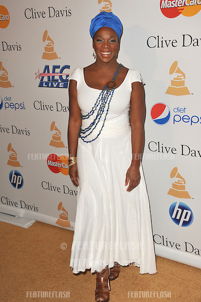 India.Arie at the 2011 Clive Davis pre-Grammy party at the Beverly Hilton Hotel..February 12, 2011  Beverly Hills, CA.Picture: Paul Smith / Featureflash