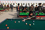 "Asien CHINA Provinz Xinjiang , Stadt Kashgar hier lebt das muslimische Turkvolk der Uiguren die durch massive Zuwanderung von Han Chinesen zur Minderheit werden , Uiguren spielen Billiard | .Asia CHINA province Xinjiang city Kashgar where uyghur people are living .| [ copyright (c) Joerg Boethling / agenda , Veroeffentlichung nur gegen Honorar und Belegexemplar an / publication only with royalties and copy to:  agenda PG   Rothestr. 66   Germany D-22765 Hamburg   ph. ++49 40 391 907 14   e-mail: boethling@agenda-fototext.de   www.agenda-fototext.de   Bank: Hamburger Sparkasse  BLZ 200 505 50  Kto. 1281 120 178   IBAN: DE96 2005 0550 1281 1201 78   BIC: ""HASPDEHH"" ,  WEITERE MOTIVE ZU DIESEM THEMA SIND VORHANDEN!! MORE PICTURES ON THIS SUBJECT AVAILABLE!! ] [#0,26,121#]"