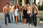 Guests pose with models at the Domenico Vacca Denim Launch Party presented by Models International on July 14, 2010.