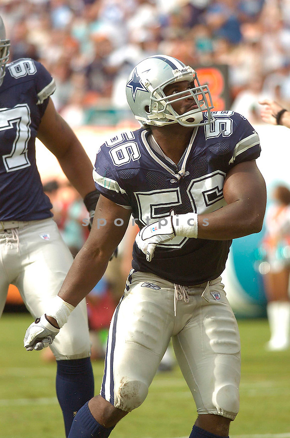 BRADIE JAMES, of the Dallas Cowboy, during the Cowboys game against the Miami Dolphins on September 16, 2007.  The Dallas Cowboys beat the Miami Dolphins 37-10....