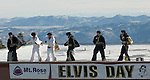 The Elvi are out in force to greet guests during the 12th annual Elvis day at Mt. Rose Ski Tahoe.