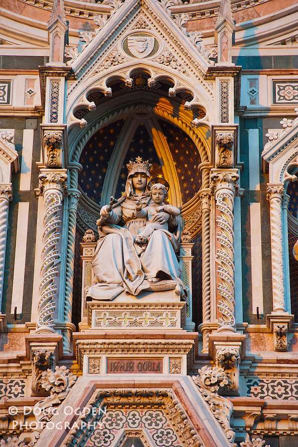 Detail of the Facade, Doumo, Florence, Italy