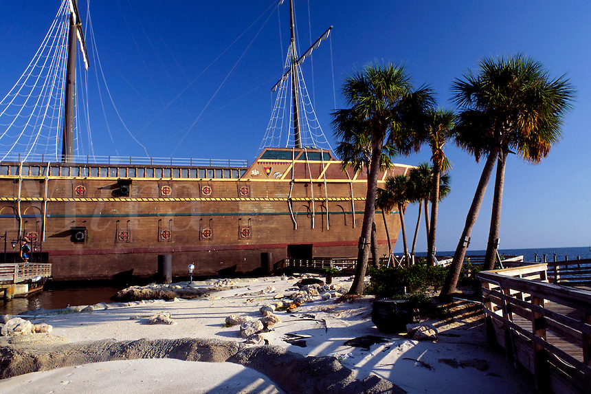 "The Treasure Bay Casino, an """"offshore"""" gambling casino, actually looks like an old pirate ship. Biloxi, Mississippi"