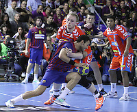 28.04.2012. Barcelona, Spain. Velux EHF Champions League (Quarter Final 2nd Leg). Picture show Dani Sarmiento in action during match between FC Barcelona Intersport against AG Copenhagen at Palau Blaugrana