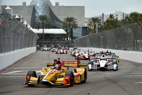 11-13 March, 2016, St Petersburg, Florida USA<br /> 28 Ryan Hunter-Reay, 3 Helio Castroneves<br /> ©2016 Scott R LePage <br /> LAT Photo USA