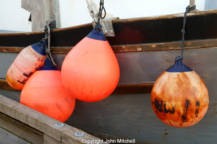 Fishing boat floats, Steveston, British Columbia, Canada