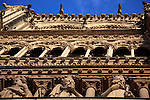 The Kings Galler on the main facade of Notre Dame cathedral. city of Paris. Paris. France