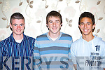 Kingdom Boy's players who won International caps with Ireland at the Kerry Schoolboy's awards night in the Gleneagle Hotel Killarney Friday evening l-r: Anthony Forde, Adam Pigott and Uros Ivkovic   Copyright Kerry's Eye 2008