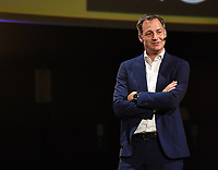 20190827 – BRUSSELS , BELGIUM : Belgian Deputy prime minister and minister of Finance and development cooperation Alexander De Croo  pictured during the women 's Football Summit , a summit where the Belgian Football Association KBVB uncover their plans for the future of women soccer in Belgium , tuesday 27 th August 2019 at the Brussels Expo Auditorium 2000  , Belgium  .  PHOTO SPORTPIX.BE   DAVID CATRY