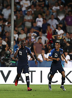 Football: Uefa under 21 Championship 2019, England - France, Dino Manuzzi stadium Cesena Italy on June18, 2019.<br /> France's Jonathan Ikoné (l) celebrates after scoring with his teammate Colin Dagba (r) during the Uefa under 21 Championship 2019 football match between England and France at Dino Manuzzi stadium in Cesena, Italy on June18, 2019.<br /> UPDATE IMAGES PRESS/Isabella Bonotto