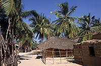 Afrique/Afrique de l'Ouest/Sénégal/Parc National de Basse-Casamance/Ourong : Cases