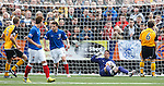 Neil Alexander makes a crucial save for Rangers to deny Annan and makes his feelings known to his defenders