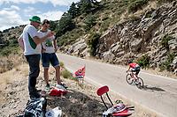 'following teh race' up the Puerto de la Morcuera<br /> <br /> Stage 18: Colmenar Viejo to Becerril de la Sierra (178km)<br /> La Vuelta 2019<br /> <br /> ©kramon