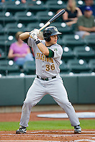 Devin Mesoraco #36 of the Lynchburg Hillcats at bat against the Winston-Salem Dash at  BB&T Ballpark May 22, 2010, in Winston-Salem, North Carolina.  Photo by Brian Westerholt / Four Seam Images