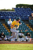 Siena Saints pinch hitter Ben Rhodes (18) at bat during a game against the Pittsburgh Panthers on February 24, 2017 at Historic Dodgertown in Vero Beach, Florida.  Pittsburgh defeated Siena 8-2.  (Mike Janes/Four Seam Images)