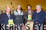 Pictured at the launch of the book 'Focail agus Foclóireacht: T O'Neill Lane' by Seaghan Mac an tSionnaigh in Abbeyfeale Library on Thursday night were L-R: Éamon Ó Leatháin, Abbeyfeale, Tadhg O'Maolcatha, Templeglantine, Seaghan Mac an tSionnaigh, originally from Co.Kilkenny now living in the Gaeltacht in Kerry and Labhrás Ó Beaglaoich, Mountcollins.The book is a biography and a critique of O'Neill Lane's work as a lexicographer.