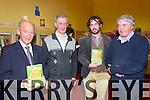 Pictured at the launch of the book 'Focail agus Foclóireacht: T O'Neill Lane' by Seaghan Mac an tSionnaigh in Abbeyfeale Library on Thursday night were L-R: Éamon Ó Leatháin, Abbeyfeale, Tadhg O'Maolcatha, Templeglantine, Seaghan Mac an tSionnaigh, originally from Co.Kilkenny now living in the Gaeltacht in Kerry and Labhrás Ó Beaglaoich, Mountcollins.The book is a biography and a critique of O'Neill Lane's work as a lexicographer.