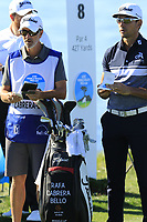 Rafa Cabrera-Bello (ESP) and caddy Colin Byrne on the 7th tee at Pebble Beach course during Friday's Round 2 of the 2018 AT&amp;T Pebble Beach Pro-Am, held over 3 courses Pebble Beach, Spyglass Hill and Monterey, California, USA. 9th February 2018.<br /> Picture: Eoin Clarke | Golffile<br /> <br /> <br /> All photos usage must carry mandatory copyright credit (&copy; Golffile | Eoin Clarke)