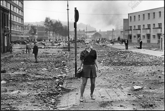 Aftermath of sectarian riots, Londonderry, Northern Ireland, August 1969