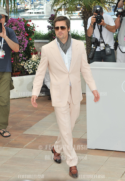 "Brad Pitt at the photocall for his new movie ""Inglourious Basterds"" in competition at the 62nd Festival de Cannes..May 20, 2009  Cannes, France.Picture: Paul Smith / Featureflash"