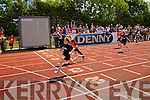 Aoife Hogan (Listowel) winner of the Girls Under 10 100m at the Kerry Community Games finals at Castleisland on Sunday.