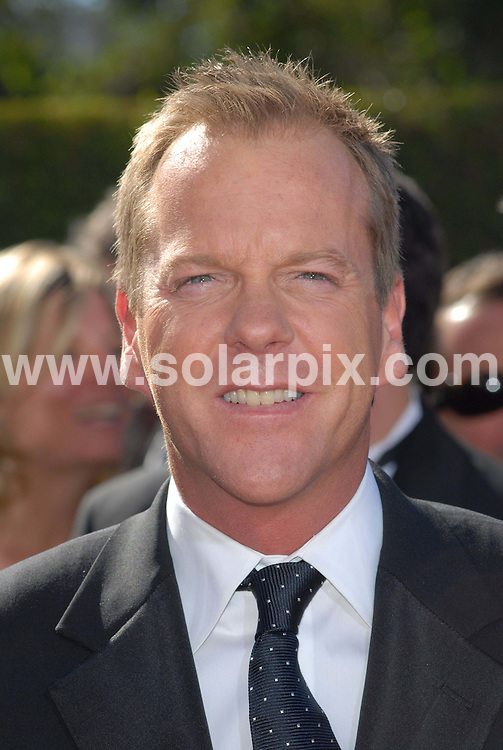 "ALL ROUND PICTURES FROM SOLARPIX.COM.Kiefer Sutherland arrives at the 58th Annual Primetime Emmy Awards held at the Shrine Auditorium in Los Angeles on 27.08.06. Job Ref: 3063/PHZ..""MUST CREDIT SOLARPIX.COM OR DOUBLE FEE WILL BE CHARGED"".."