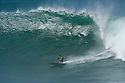 Darryl Flea Virostko (USA) during the Quiksilver Eddie Aikau at Waimea Bay on the Northshore of Oahu in Hawaii