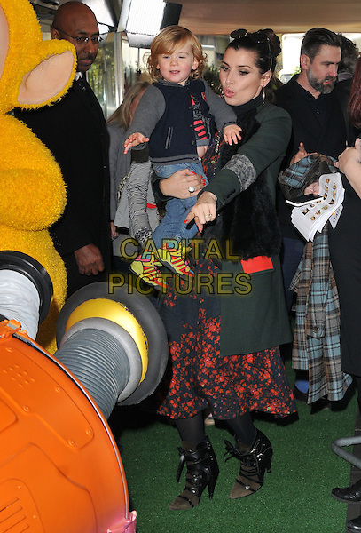 Grace Woodward &amp; son Larkin attend the Teletubbies TV series for CBeebies world premiere screening, BFI Southbank, Belvedere Road, London, England, UK, on Sunday 25 October 2015. <br /> CAP/CAN<br /> &copy;Can Nguyen/Capital Pictures