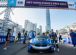 Safety Car by BMW at the grid place during the FIA Formula E Hong Kong E-Prix Round 1 at the Central Harbourfront Circuit on 02 December 2017 in Hong Kong, Hong Kong. Photo by Marcio Rodrigo Machado / Power Sport Images