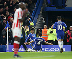 Chelsea's Willian celebrates scoring his sides third goal during the Premier League match at Stamford Bridge Stadium, London. Picture date December 31st, 2016 Pic David Klein/Sportimage
