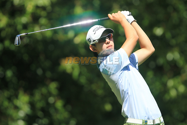 Seung-yul Noh on the second hole in the final round of the BMW PGA championship 2010 at Wentworth golf club, Surrey, England..Picture Manus O'Reilly/Newsfile.ie