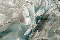 A close up of the ice of the Glacier d'Argentiere, September 2007.