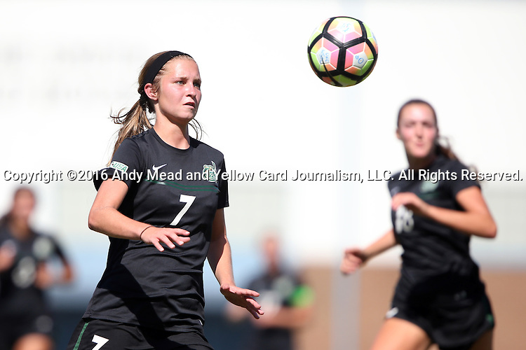 21 August 2016: Charlotte's Megan Greene. The University of North Carolina Tar Heels hosted the University of North Carolina Charlotte 49ers in a 2016 NCAA Division I Women's Soccer match. UNC won the game 3-0