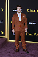 "LOS ANGELES - NOV 14:  Noah Segan at the ""Knives Out"" Premiere at Village Theater on November 14, 2019 in Westwood, CA"