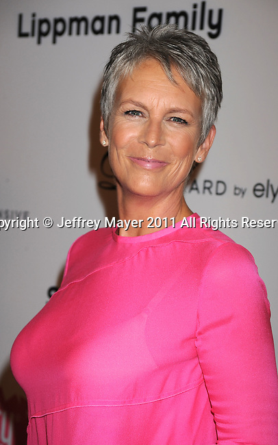 HOLLYWOOD, CA - SEPTEMBER 10: Jamie Lee Curtis  attends the Pink Party '11 Hosted By Jennifer Garner To Benefit Cedars-Sinai Women's Cancer Program at Drai's Hollywood on September 10, 2011 in Hollywood, California.