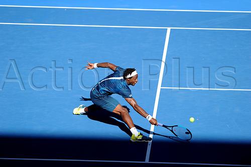 18th January 2018, Melbourne Centre, Melbourne, Australia; Australian Open Tennis;  Gael Monfils