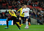Erik Lamela of Tottenham runs at the Watford defence during the premier league match at Wembley Stadium, London. Picture date 30th April 2018. Picture credit should read: David Klein/Sportimage