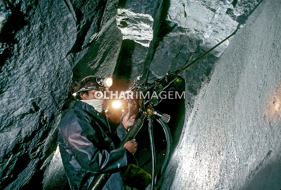 Mineração de estanho. Bolivia. 1992. Foto de Salomon Cytrynowicz.