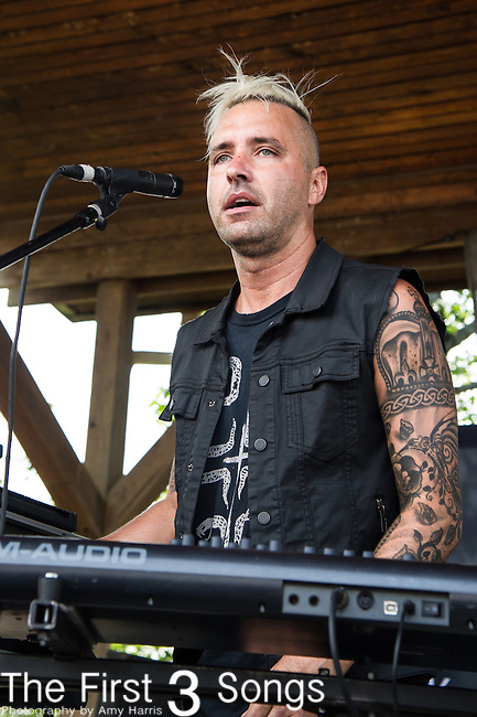 Zach Hall of Five Knives performs during the Vans Warped Tour at the Klipsch Music Center in Indianapolis, IN.
