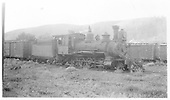 Engineer's side view of RGS 2-8-0 #40 in Dolores yard.<br /> RGS  Dolores, CO  8/5/1940